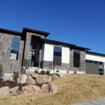New Modern Home with stone and siding